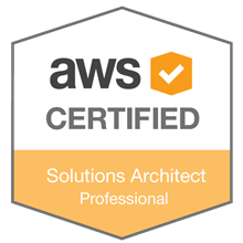 AWS Pro Cert Solutions Architect Badge